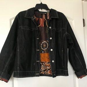 Chico's black jean jacket